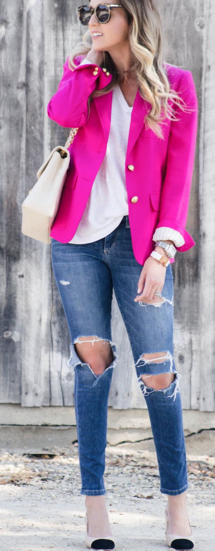 incredible pink blazer outfit women 8