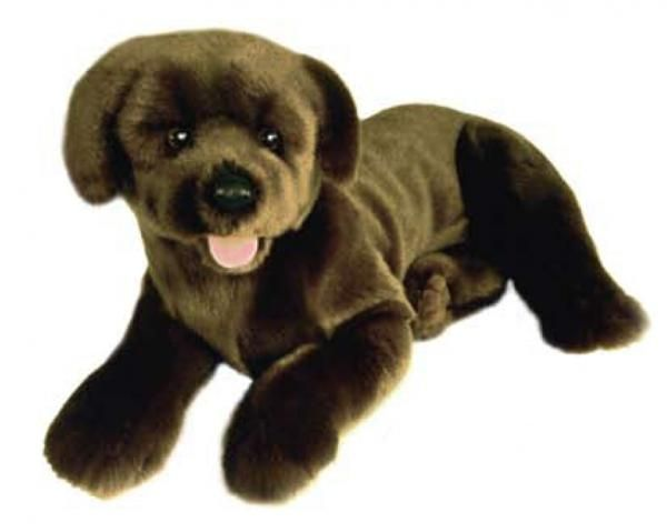 Chocolate Lab Toby Plush Toy