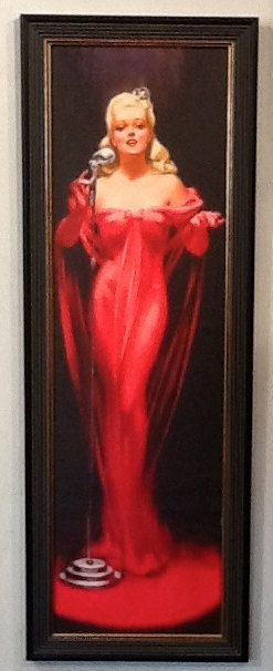 LADY IN RED PinUp Roy Best Big Band Jazz Singer by VANGUARDGALLERY, $148.75