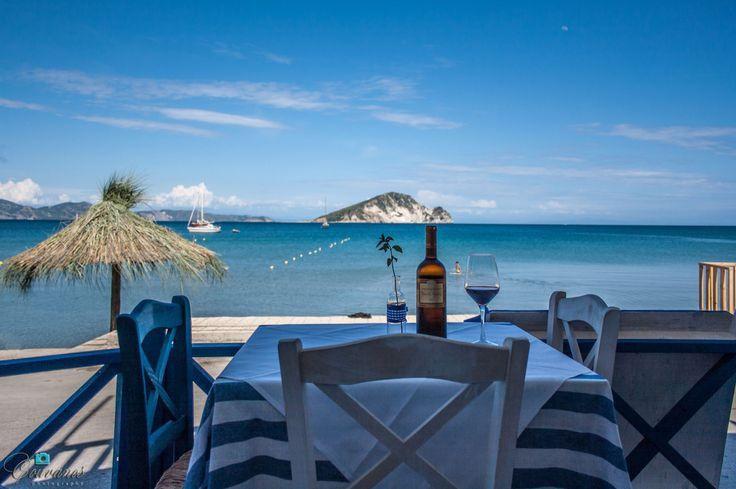 Keri Taverna, Zante island (view of Marathonisi island).