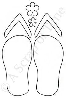 Free Flip Flop Paper Piecing Pattern