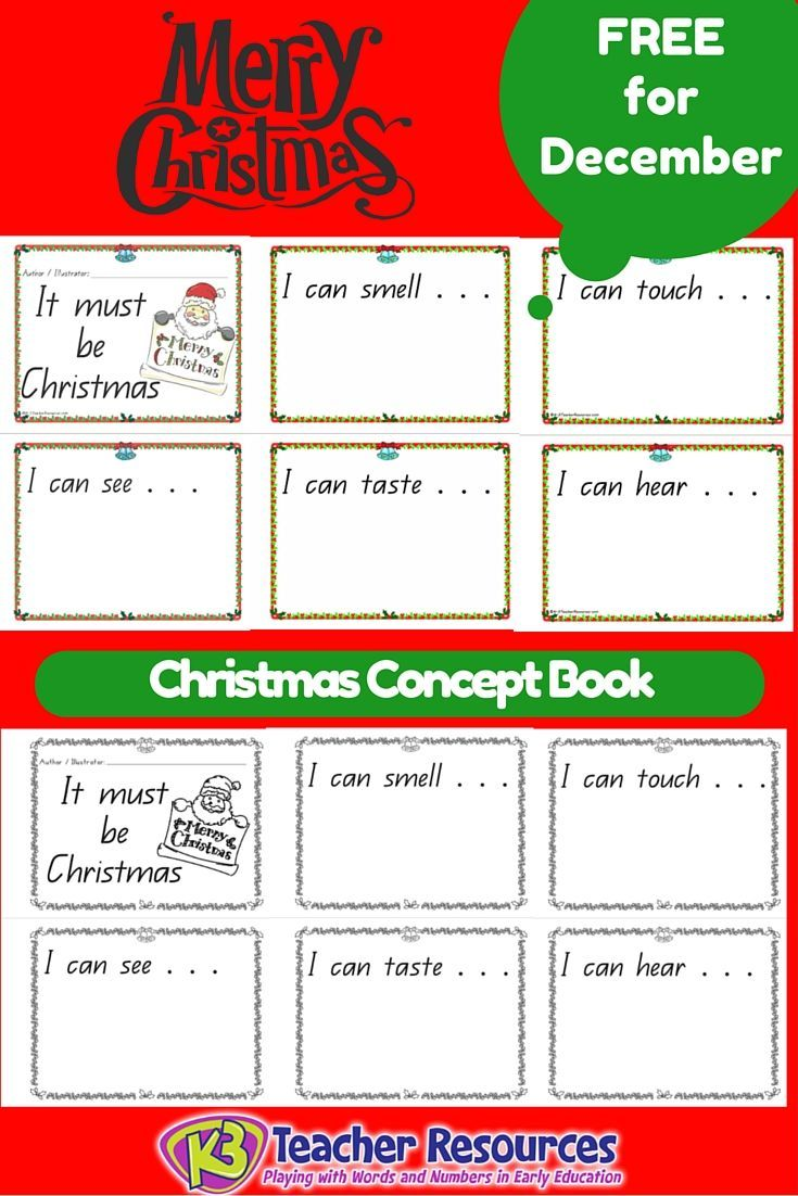 Free Christmas Senses Concept Book for the month of December :-)