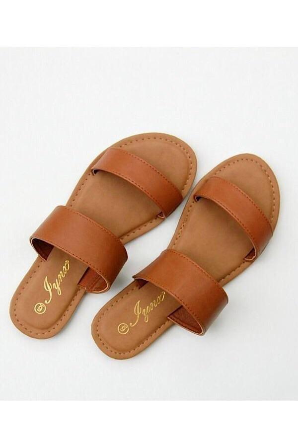 Double Strap Sandal – Hausschuhe