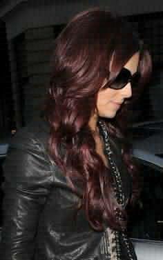 ... dark auburn/warm chestnut mix (halo) and cherry cola underneath | hair