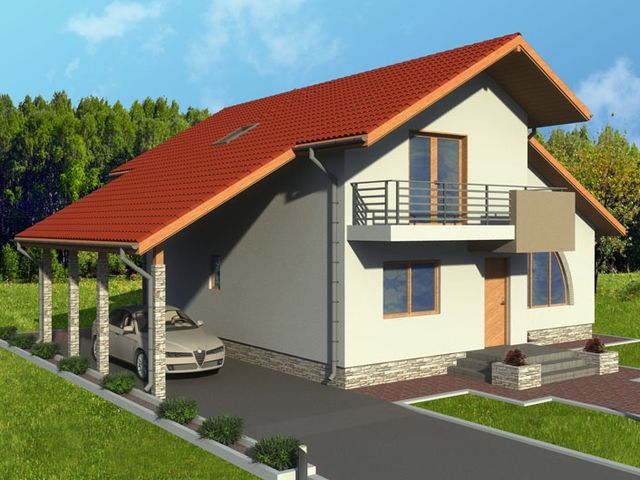 Casa cu mansarda 1006