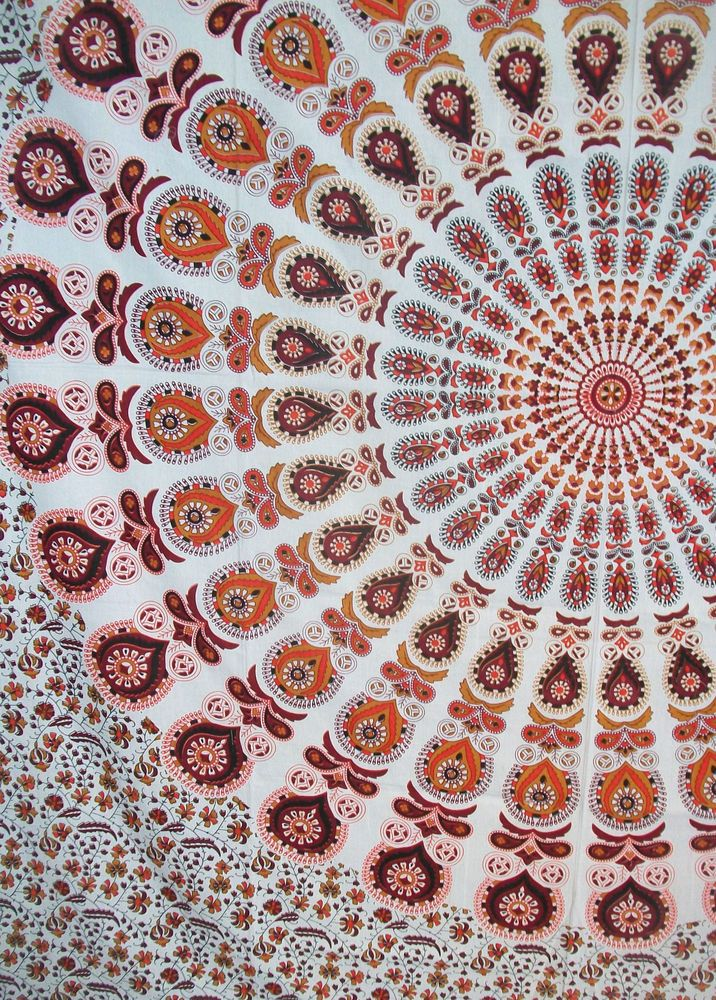 Queen Indian Tapestry MandalaTapestry Mandala Hippie Tapestry Bedspread #Handmade