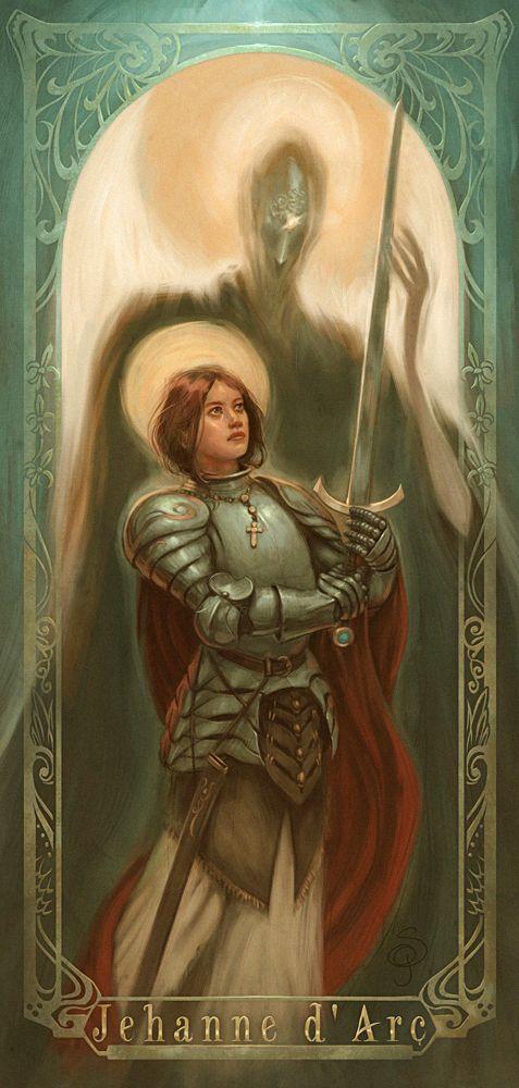 Joan Of Arc-Juana de Arco por Giacobino