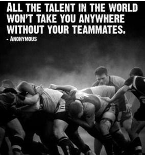 this is the best thing about rugby! you aren't worth a thing if your teammates are there to ruck for you.
