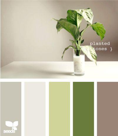 Color: Color Palettes, Design Seeds, Color Inspiration, Color Schemes, Living Room, Planted Tones