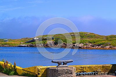 Looking across the water from the wharf in Burgeo Newfoundland