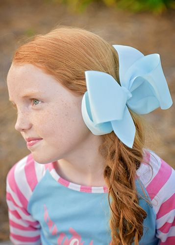Texas Size Big Hair Bows with French Clip
