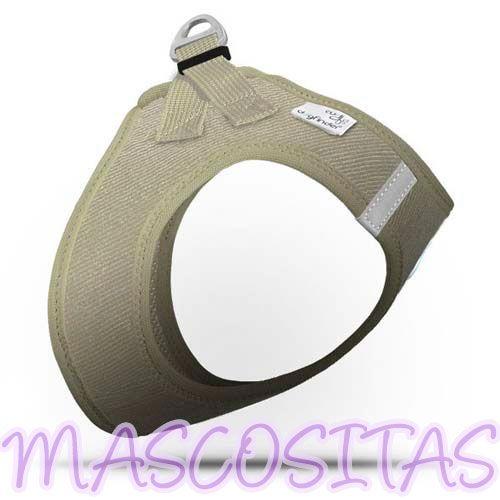 Curli Arnés VEST CORD de Pana. El arnés se ajusta alrededor de toda la zona pectoral, lo que distribuye la presión de forma óptima, disponible en 6 tallas (XXXS-XXS-XS-S-M-L).