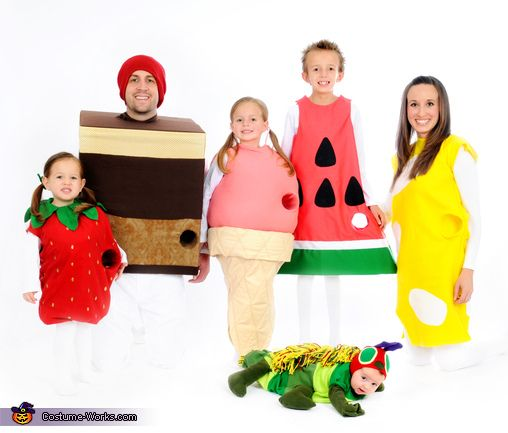 The Very Hungry Caterpillar Family Costume - Halloween Costume Contest via @costume_works