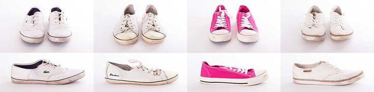 Schmutzige weiße Sneaker