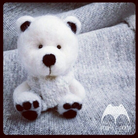 #felt #bear #teddy #needlefelting