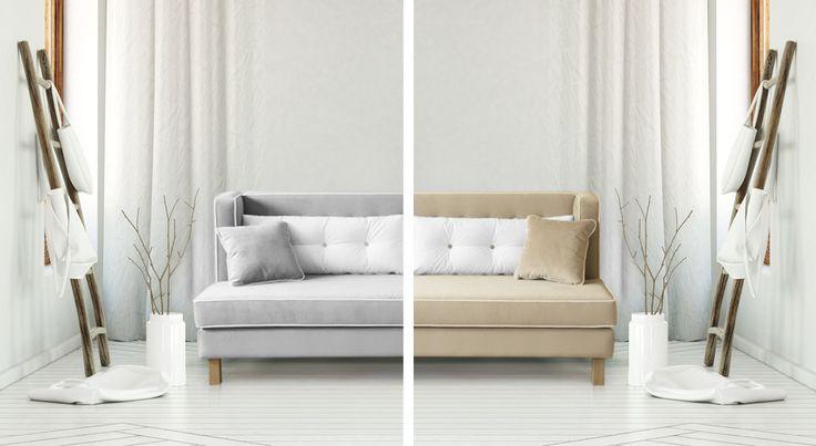 Sofa Venezia w kolorach ziemi. Beże, biele i szarości działają odprężająco i relaksująco.