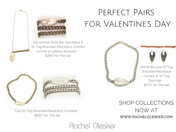 Just in time for Valentine's Day. Perfect Pairs by Rachel Olesker Jewelry. Two pieces for one price. Purchase yours today through Thursday, February 5. Shop here: http://ow.ly/HY8Qj