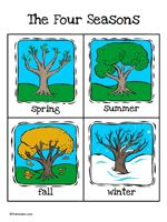 Here's a set of cards showing a tree in each of the four seasons.