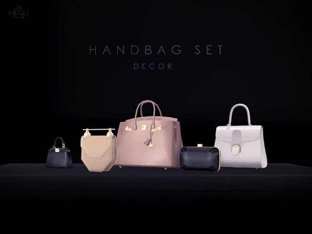 Sims 4 CC's - The Best: Decorative Handbags by StarlordSims