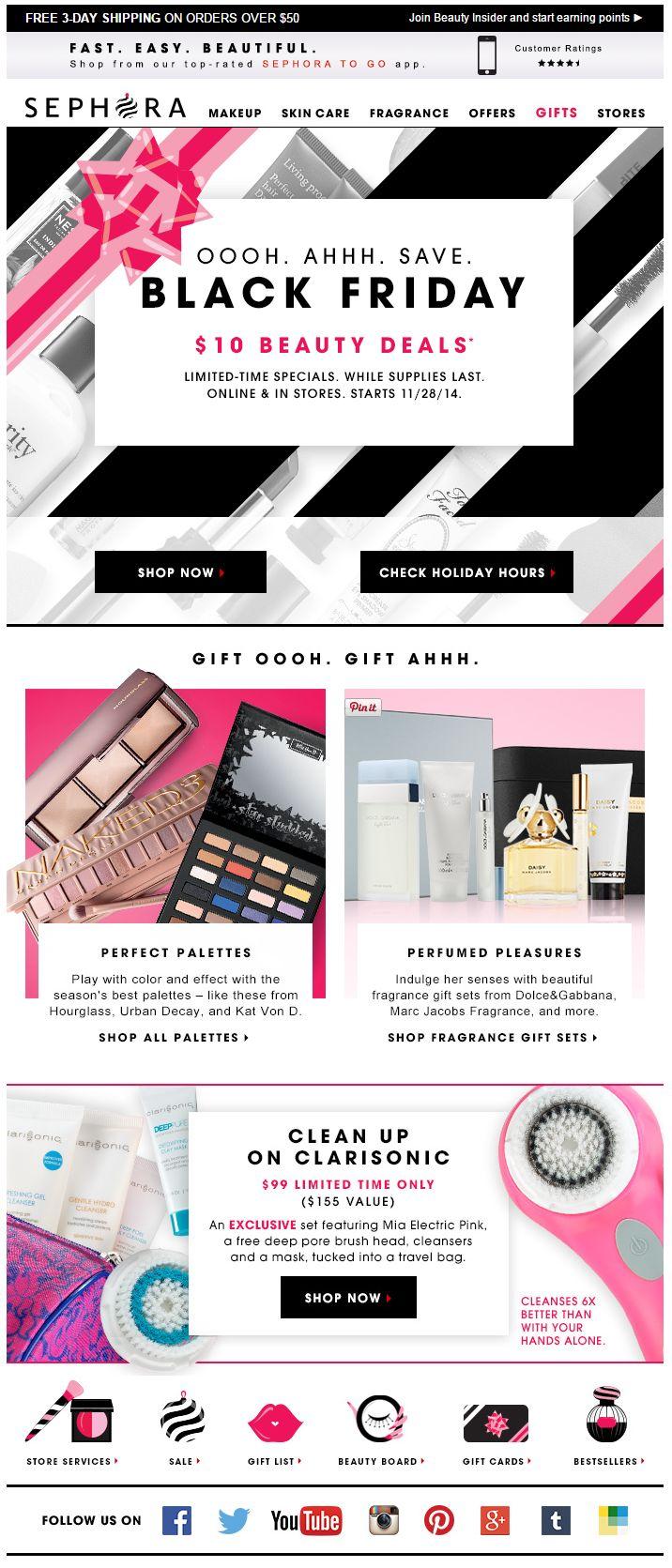 Black Friday Email Marketing Inspiration 2014 / Sephora