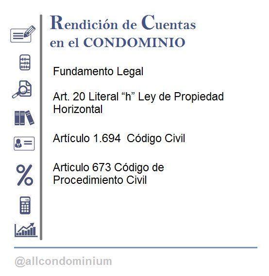 """TODO CONDOMINIOS en Twitter: """"Fundamento legal de la Rendición de Cuentas…"""