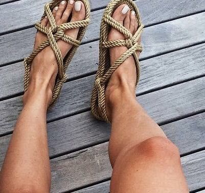 non-rubber rope sandals are prefect for Earthing / Grounding because they do not disrupt the natural flow of energy from the earth to our bodies
