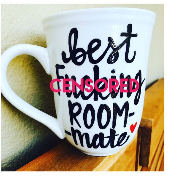 Mature- best f*cking roommate coffee mug- gifts for roommates- christmas gift-Bestie coffee mug - besties handpainted coffee mug- love you-