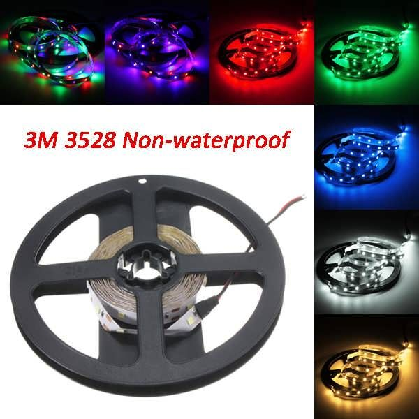 3M DC12V 14.4W 180 SMD 3528 Non-waterproof Red/Blue/Green/White/Warm White/RGB Flexible LED Strip  Worldwide delivery. Original best quality product for 70% of it's real price. Buying this product is extra profitable, because we have good production source. 1 day products dispatch from...