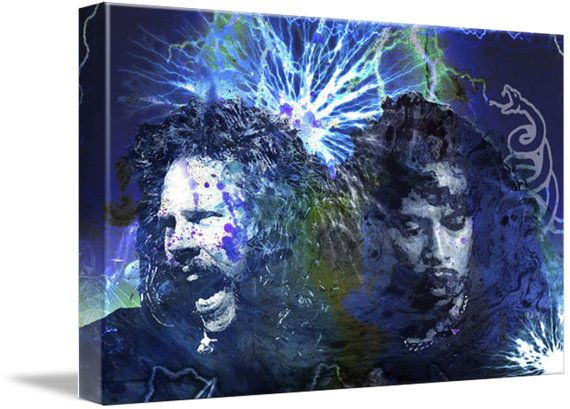 Metallica Art, Heavy Metal Canvas Art Print
