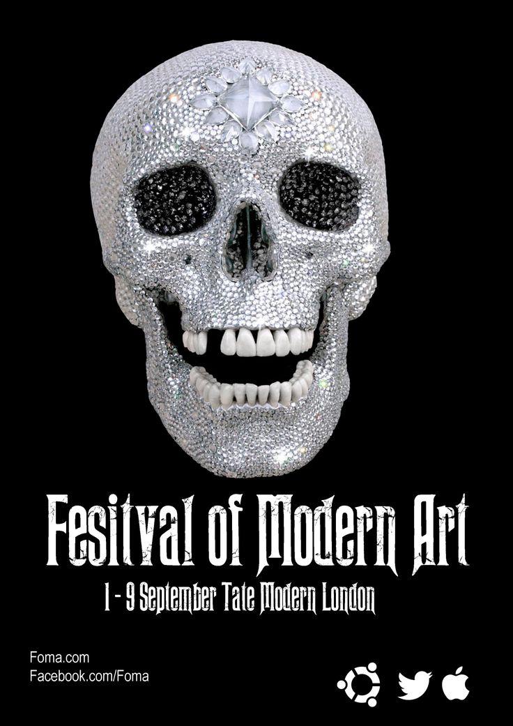 Festival poster Festival of modern art doelgroep: Rockers