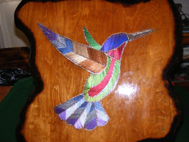 Designs in Wood and String - 2008 New String Art   Thunderbird, White Wolf, Buffalo and Hummingbird