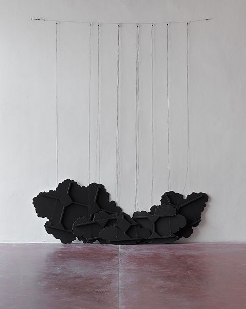 sotlylaisse:  Latifa Echakhch -Untitled (Black Clouds) 2015