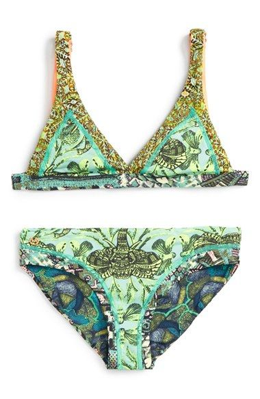 Maaji 'Forest Folk' Reversible Two-Piece Swimsuit (Big Girls) available at #Nordstrom