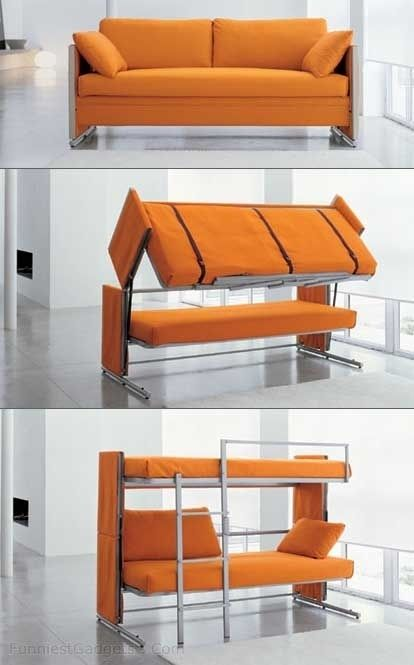 This couch-turned-bunk bed. | 20 Home Furnishings That Are Borderline Magic