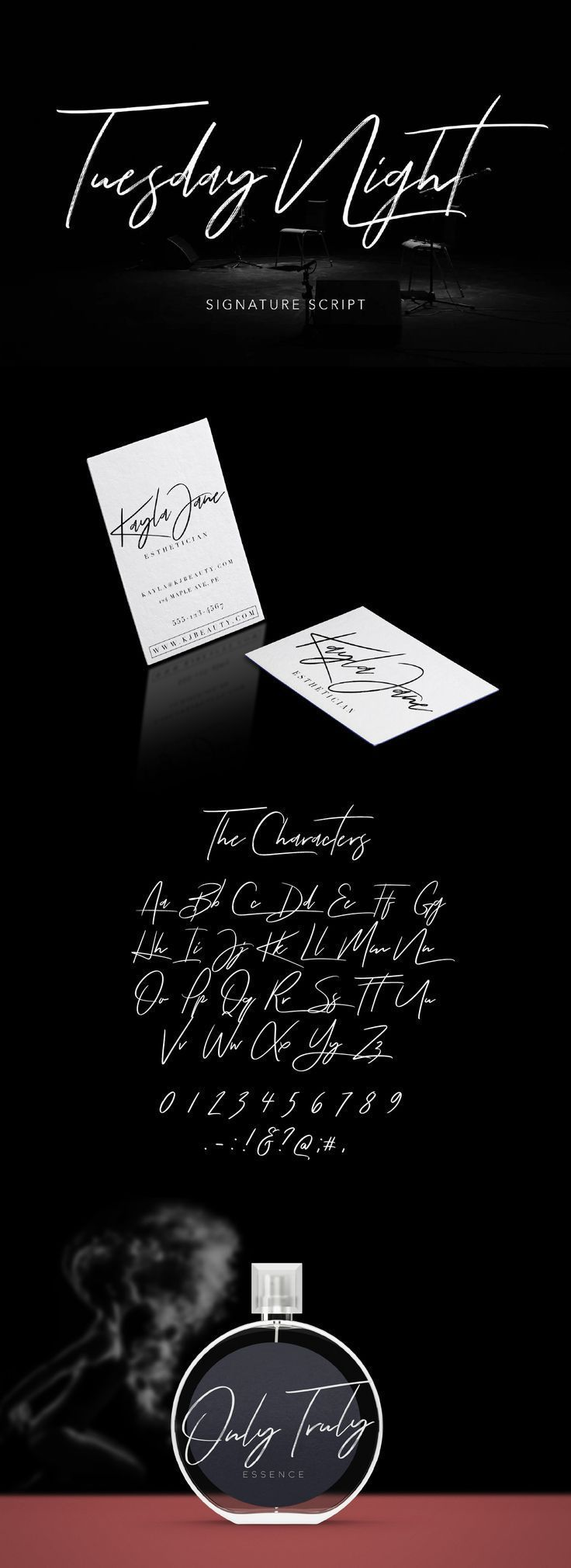 TUESDAY NIGHT FREE SIGNATURE SCRIPT Signature fonts