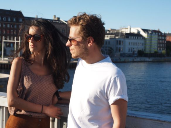 Saturday in Copenhagen. Mariana from www.hybridablog.com and Thomas Bittencourt