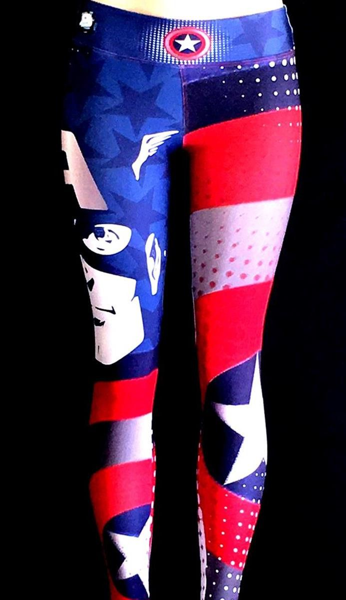 Retro Captain America  Leggings - S2 Activewear - Roni Taylor Fit  - 1