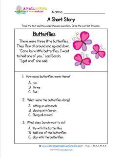 Kindergarten Short Stories - Butterflies | Short stories ...