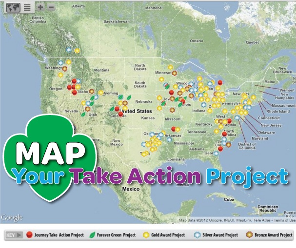 Girl Scouts are changing the world! Whether it's Gold Awards, Silver Awards, Bronze Awards, Forever Green, or Journey Take Action projects. Add your project to the map!