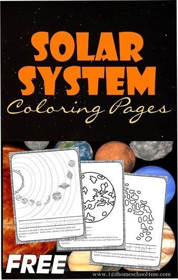 FREE! Solar System Coloring Pages - Kids will love learning about the solar system as they color these coloring sheets for each planet, asteroid belt, sun, and more! These are great to keep kids busy while homeschool moms read books aloud! Preschool-5th grade.