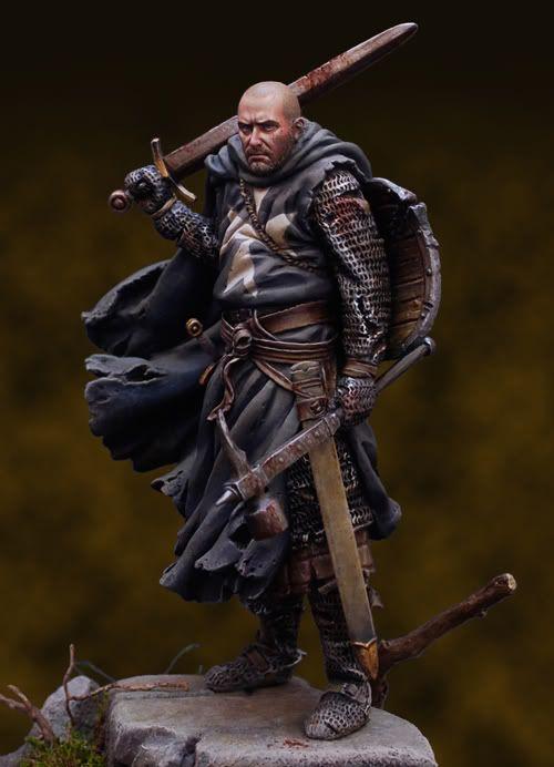 Рыцарь Госпитальер, 13 век. Наличие при себе боевого молота/клевца немного странно.