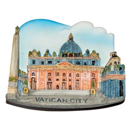 Resin Fridge Magnet: Vatican. St. Peter's Basilica