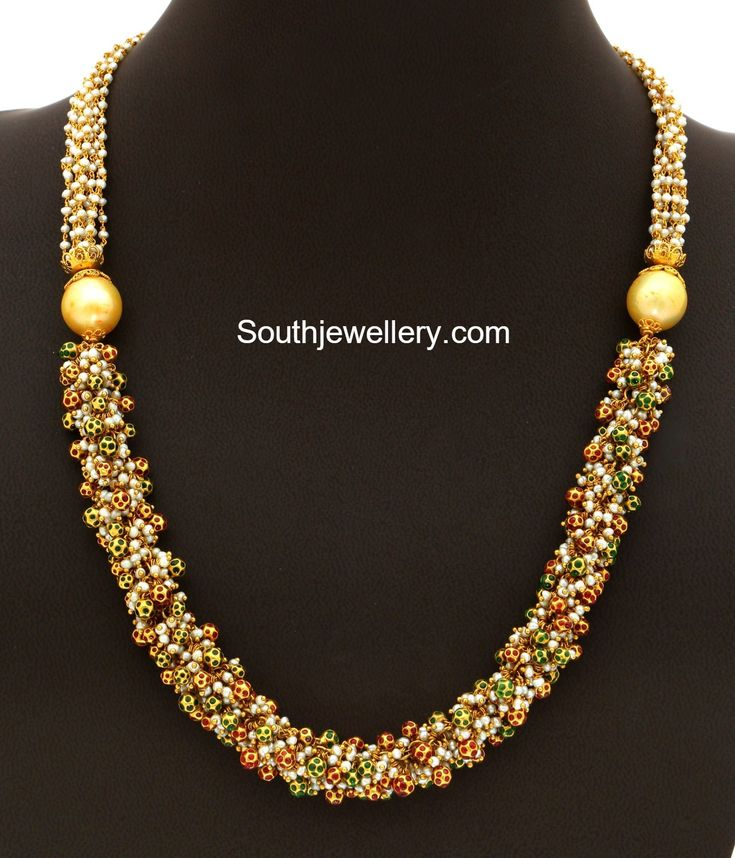 Gold Pearls Mala