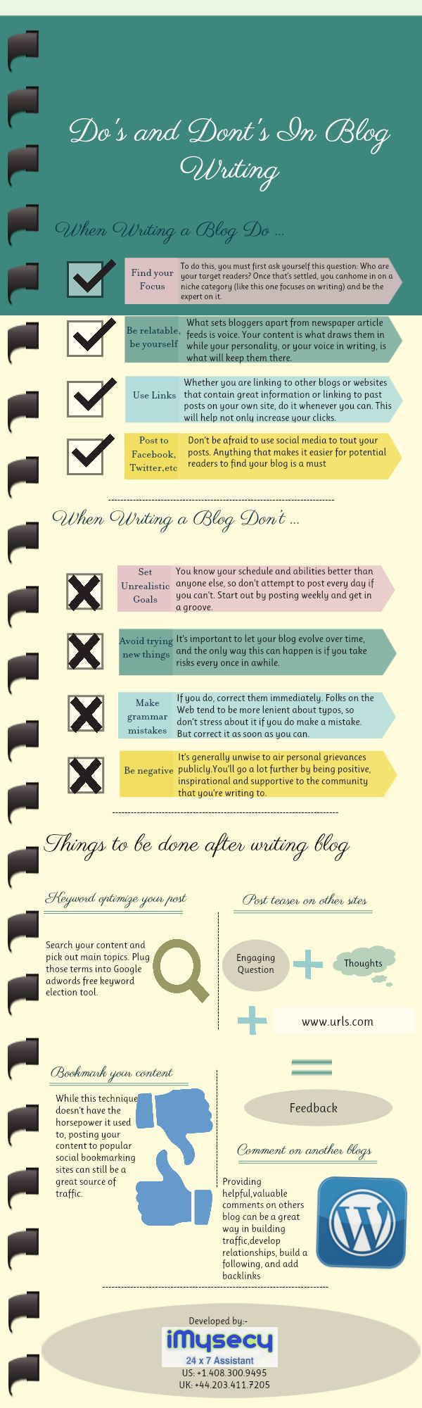 Do's and dont's in blog writing: