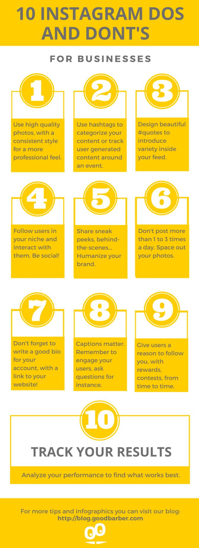 [ Infographic ] 10 Instagram Dos and Don'ts for Businesses #Instagram #socialmedia #engagement #strategy #marketing #Infographic