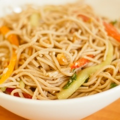 Cold Peanut Sesame Noodles- good summer meal- not heating the entire ...