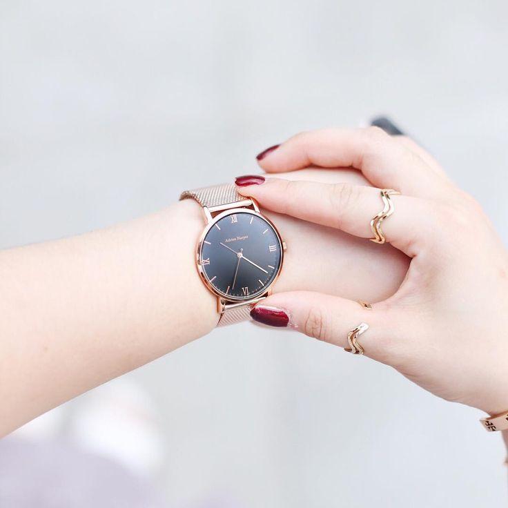 Rose gold watch | Adrien Harper   #bloggerstyle