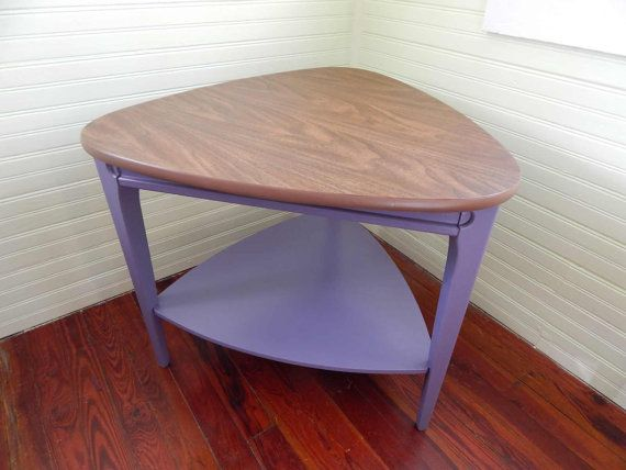 Outstanding Mersman Side Table    Nice Eames Era End Table With Faux Wood Formica  Top    Shapely Triangle Table Painted Purple | For The Home | Pinterest ...