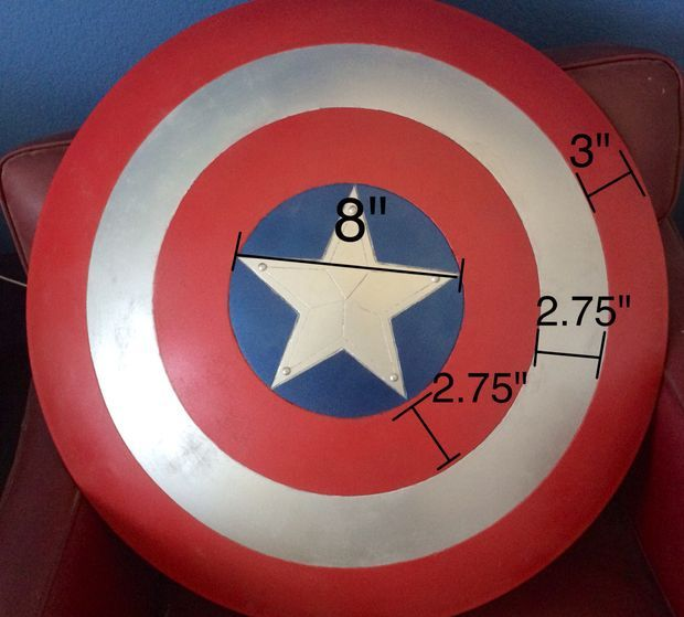This is the best Captain America Shield tutorial I've found. Looks good, and the instructions are thorough and precise.