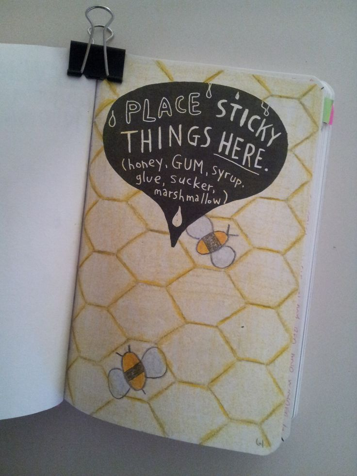 Wreck This Journal: Place Sticky Things Here.